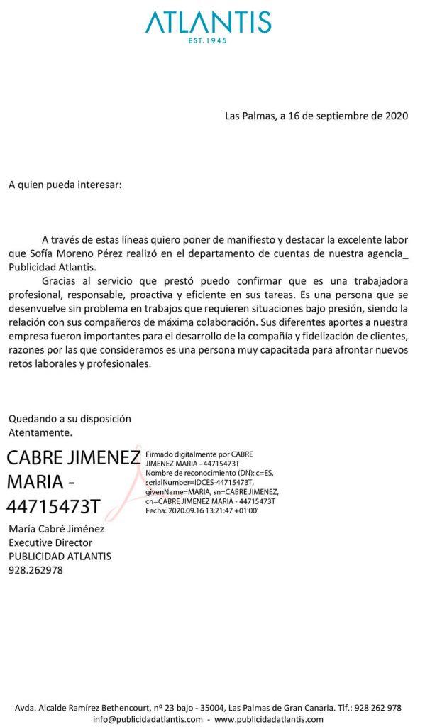 SOFIA MORENO PUBLICIDAD ATLANTIS